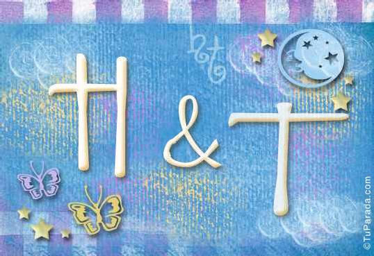 Tarjeta de iniciales H - T