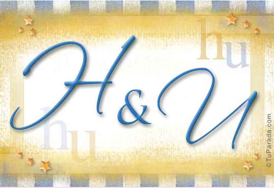 Tarjeta de iniciales H - U