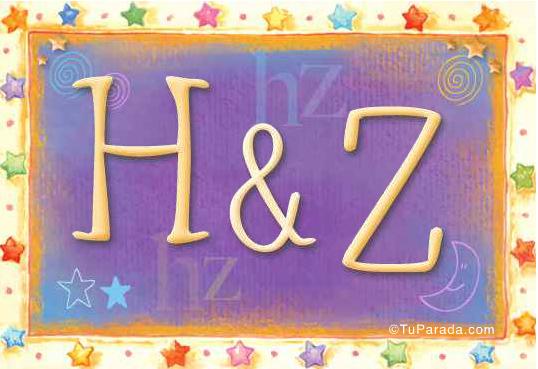 Tarjeta de iniciales H - Z