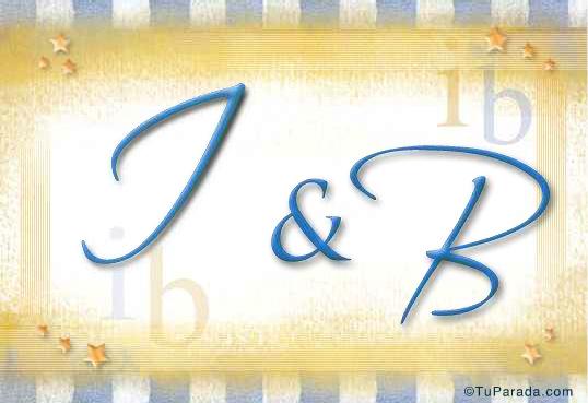 Tarjeta de iniciales I - B