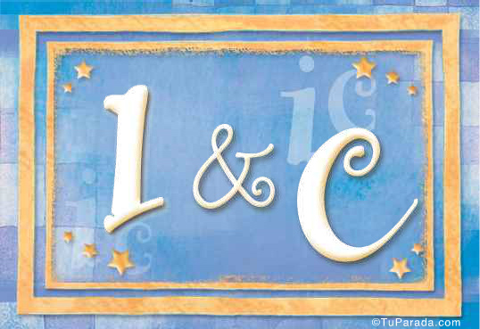 Tarjeta de iniciales I - C