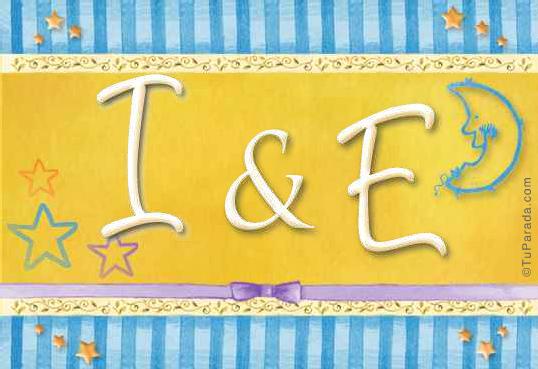 Tarjeta de iniciales I - E