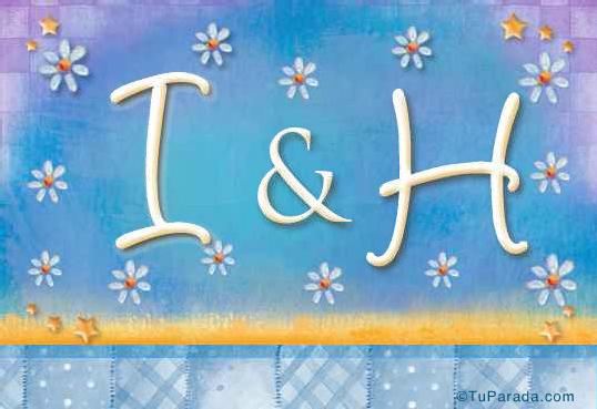 Tarjeta de iniciales I - H
