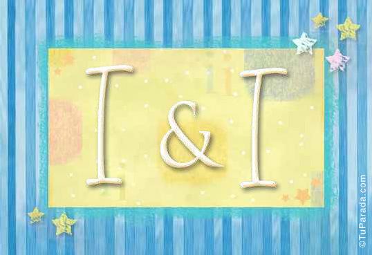 Tarjeta de iniciales I - I