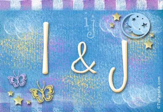 Tarjeta de iniciales I - J
