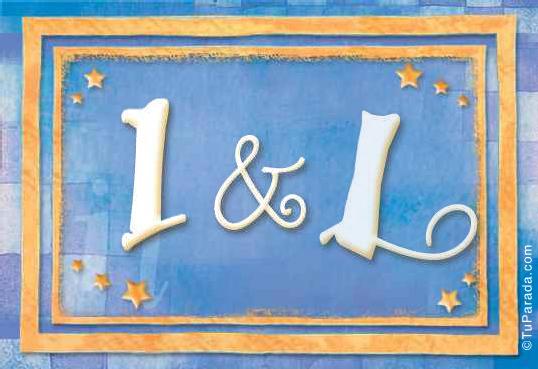 Tarjeta de iniciales I - L