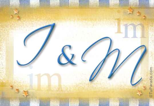 Tarjeta de iniciales I - M