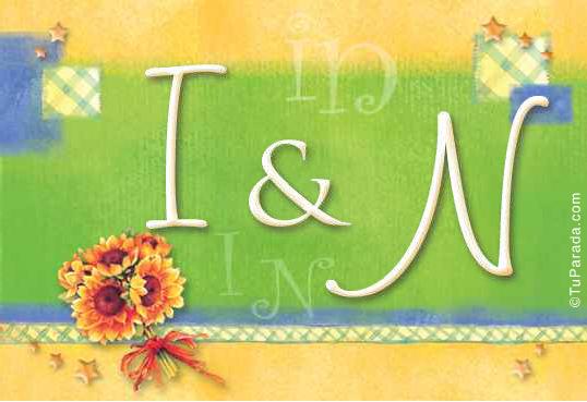 Tarjeta de iniciales I - N