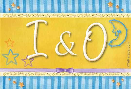 Tarjeta de iniciales I - O