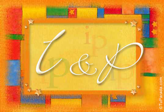 Tarjeta de iniciales I - P
