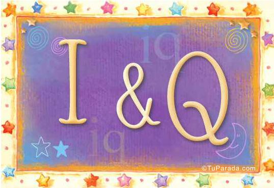 Tarjeta de iniciales I - Q