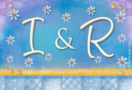 Tarjeta de iniciales I - R