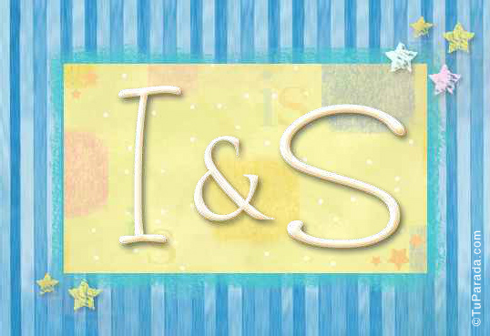 Tarjeta de iniciales I - S
