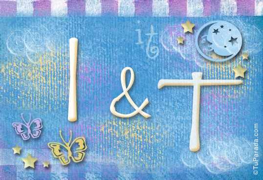 Tarjeta de iniciales I - T
