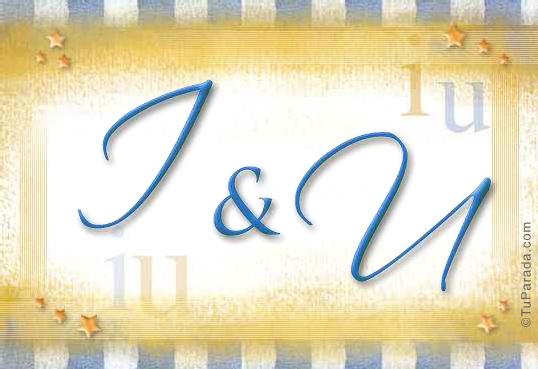 Tarjeta de iniciales I - U