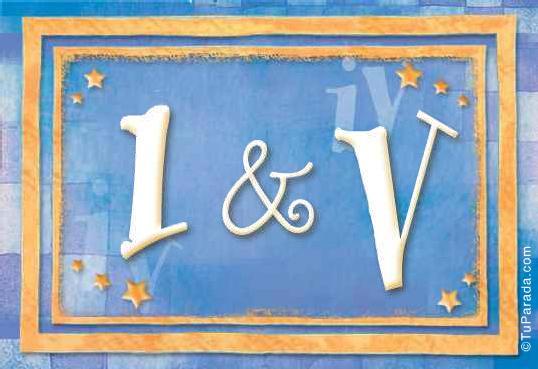 Tarjeta de iniciales I - V
