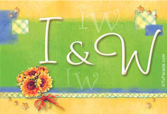 Tarjeta de iniciales I - W