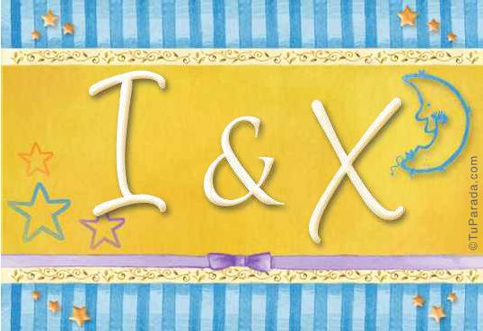 Tarjeta de iniciales I - X