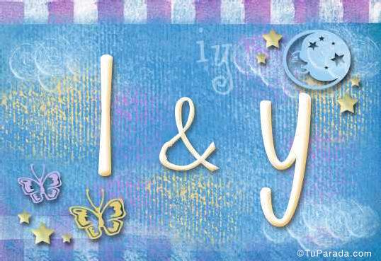 Tarjeta de iniciales I - Y