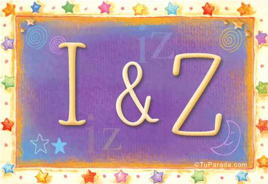 Tarjeta de iniciales I - Z