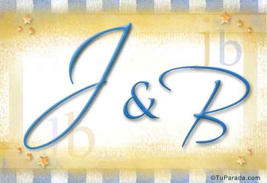 Tarjeta de iniciales J - B