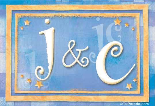 Tarjeta de iniciales J - C