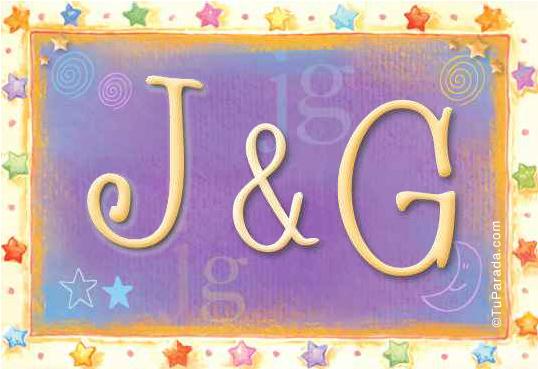Tarjeta de iniciales J - G