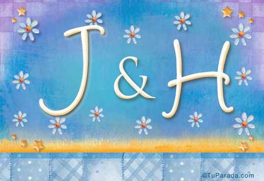 Tarjeta de iniciales J - H