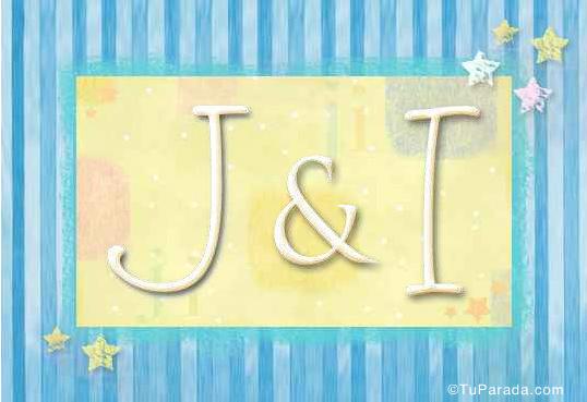 Tarjeta de iniciales J - I