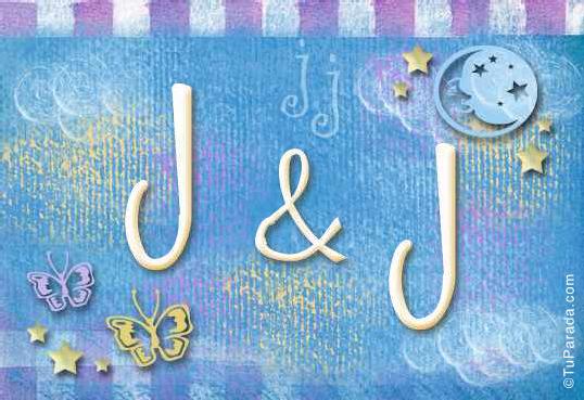 Tarjeta de iniciales J - J