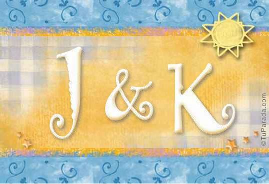 Tarjeta de iniciales J - K
