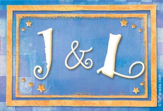 Tarjeta de iniciales J - L