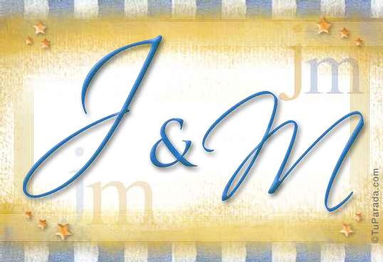 Tarjeta de iniciales J - M