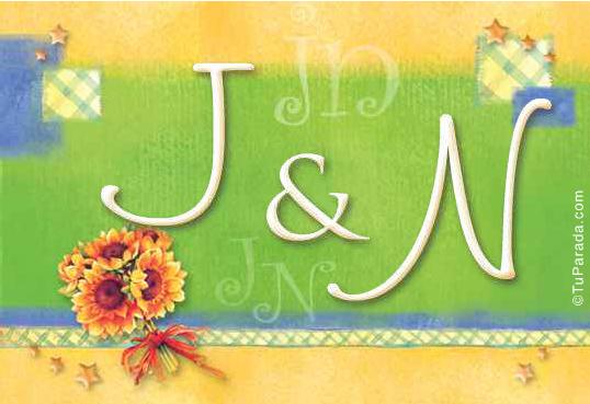 Tarjeta de iniciales J - N