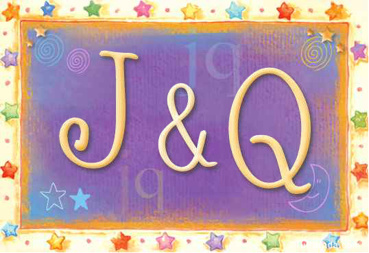 Tarjeta de iniciales J - Q