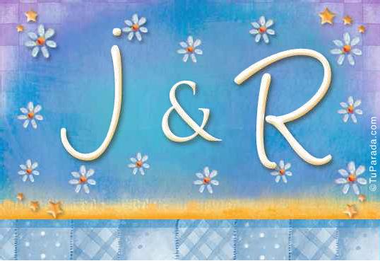 Tarjeta de iniciales J - R