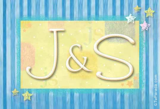 Tarjeta de iniciales J - S