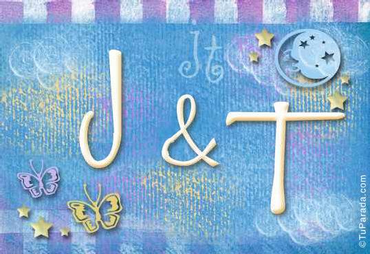 Tarjeta de iniciales J - T