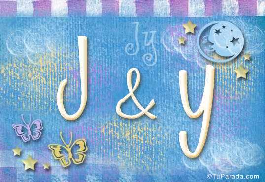 Tarjeta de iniciales J - Y