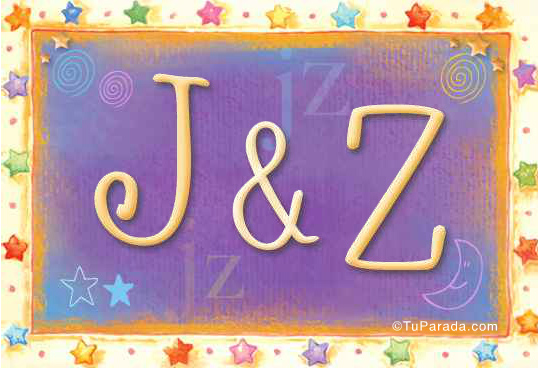 Tarjeta de iniciales J - Z