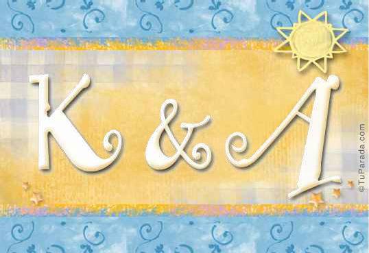 Tarjetas, postales: Inicial K