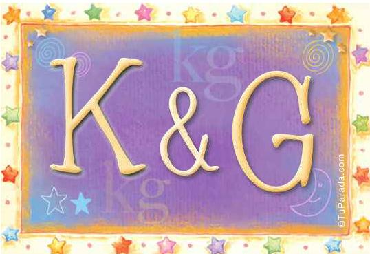 Tarjeta de iniciales K - G