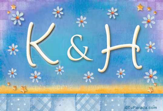 Tarjeta de iniciales K - H