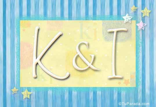 Tarjeta de iniciales K - I