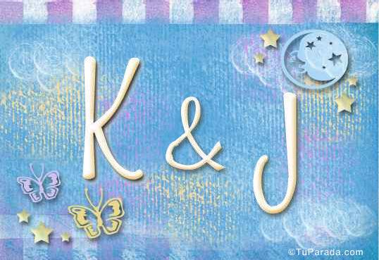 Tarjeta de iniciales K - J