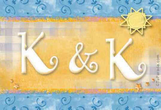 Tarjeta de iniciales K - K