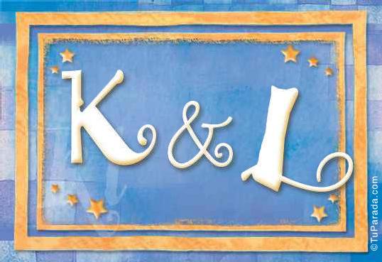 Tarjeta de iniciales K - L