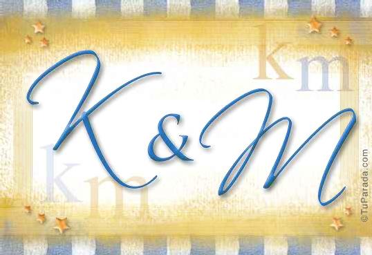 Tarjeta de iniciales K - M