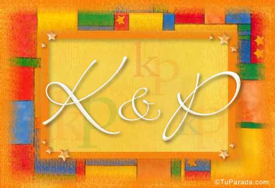 Tarjeta de iniciales K - P