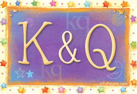Tarjeta de iniciales K - Q